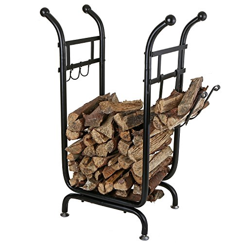 MyGift Firewood Holder Starter Storage