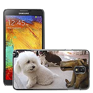 Etui Housse Coque de Protection Cover Rigide pour // M00130427 Cachorro Perro de Rescate de Animales // Samsung Galaxy Note 3 III N9000 N9002 N9005