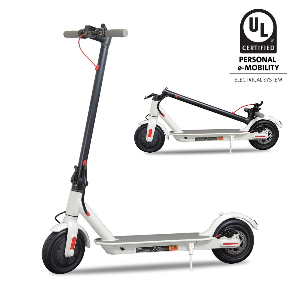Electric Scooter,UL Certified 8.5'' Tires Portable Folding Motorized Scooter,300W Motor Propels,Long-Range Battery,Max Speed of 15.8 MPH Up to 18.6 Miles, Electric Scooter for Adults by Studio88