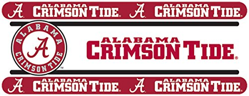 NCAA Alabama Crimson Tide Wall Border Roll - College Football Self Stick Decor