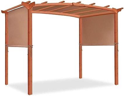 Millster - Cenador de jardín de madera para ahumar (tamaño pequeño), diseño de pérgola
