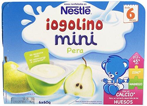 Nestlé Yogolino Postre lácteo Mini con Pera Para bebés a partir de 6 meses - Paquete de 8x6 tarrinas de postre lácteo de 60g: Amazon.es: Alimentación y ...