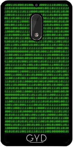 Funda de silicona para Nokia 6 - Ceros Y Unos Brillantes Verde by hera56