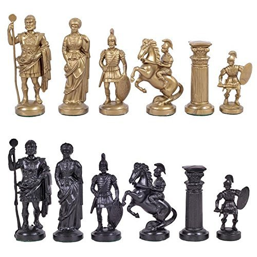 (Chess and games shop Muba Plastic Chess Pieces RomanLegion 3 3/4