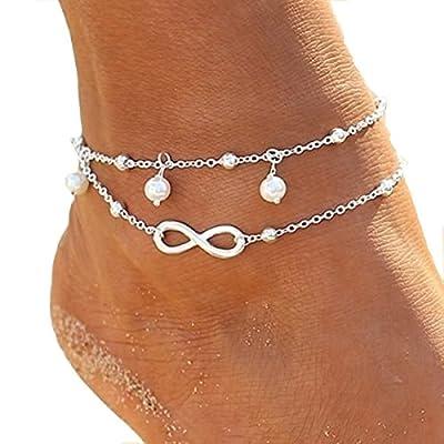 NiceWave Women Foot Jewelry Barefoot Sandal Beach Chain Ankle Bracelet