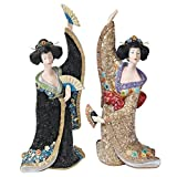 Design Toscano Odoriko Geisha Asian Bachiko and Aiko Statue Collection, Multi Colored Review