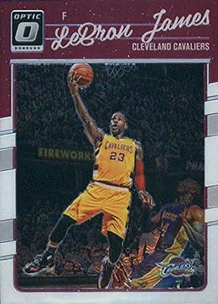 30254253f8a 2016-17 Donruss Optic  15 LeBron James Cleveland Cavaliers Basketball Card
