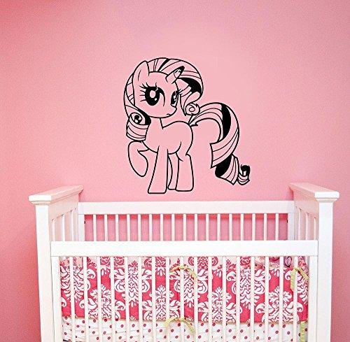My Little Pony Wall Sticker Unicorn Vinyl Decal Cartoon Art Animal Decorations for Home Nursery Fantasy Decor Ideas un5 -