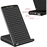 Godefa Fast Wireless Charger, Qi Wireless Charging Pad Stand with USB Port for iPhone X, iPhone 8/8 Plus, Samsung Galaxy Note 8, S8/S8 Plus/S7/S7 Edge/S6 Edge Plus