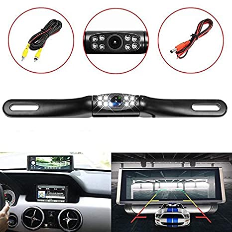Vehicle Electronics & Gps Waterproof Car License Plate Reverse Rear View Camera 8led Infrared Night Vision