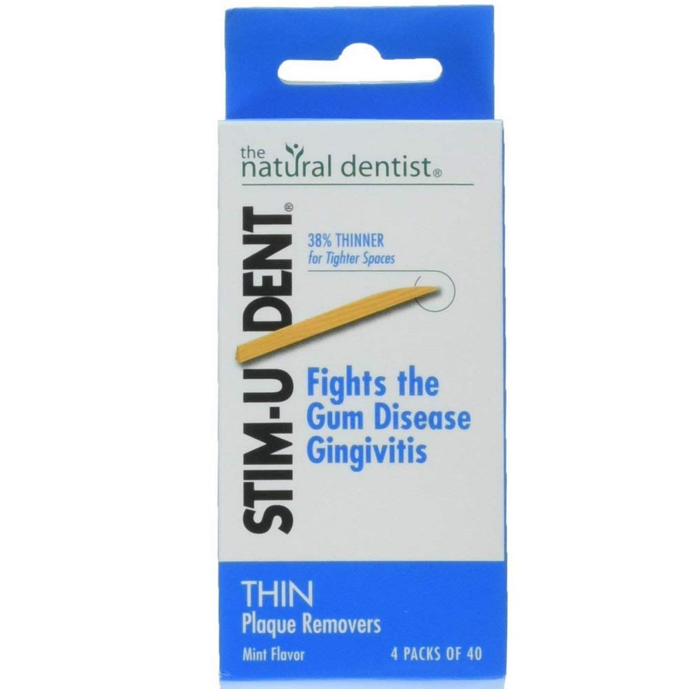 Stim-U-Dent Plaque Removers Thin Mint 160 Each ( Pack of 24)