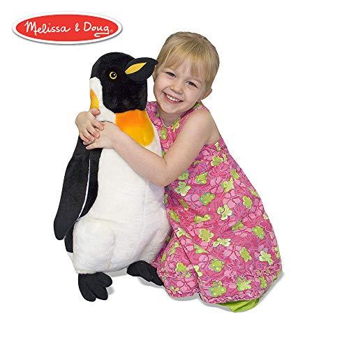 "Melissa & Doug Penguin Giant Stuffed Animal (Wildlife, Soft Fabric, Beautiful Penguin Markings, 23.5"" H x 17"" W x 9.8"" L)"