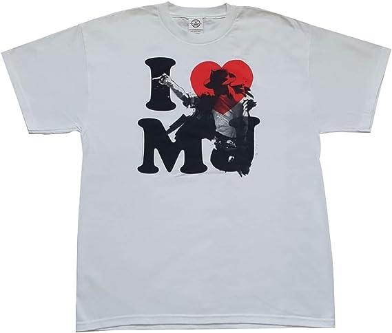 Camiseta I Love MJ Blanca (Michael Jackson) Talla L Hecha de 100% algodón: Amazon.es: Ropa y accesorios