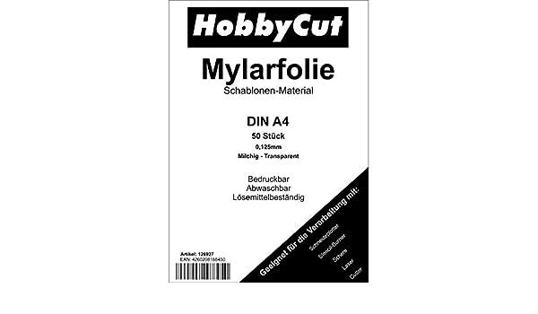 Mylar - Plantillas para aerógrafo (50 unidades, DIN A4): Amazon.es ...