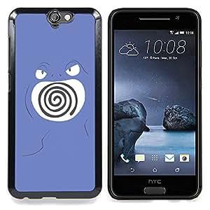 """Qstar Arte & diseño plástico duro Fundas Cover Cubre Hard Case Cover para HTC One A9 (Remolino púrpura de Poke Monster"""")"""