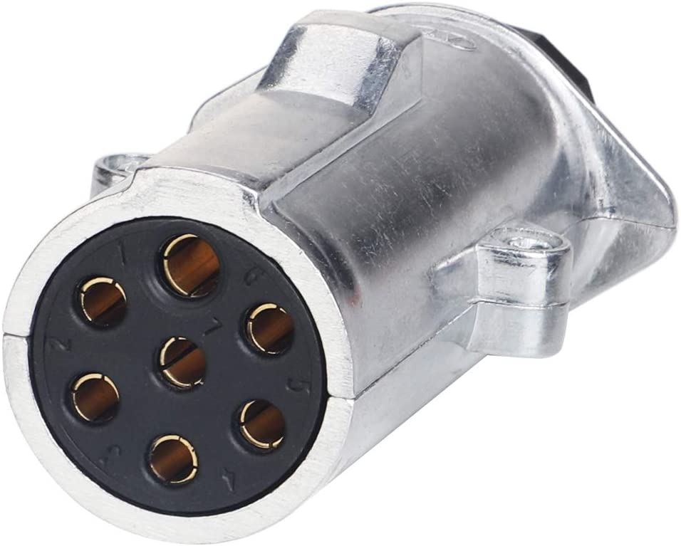 7 Way Trailer Plug A Round 7 Pin Trailer Connector to Flat 5 Way Trailer Wiring N