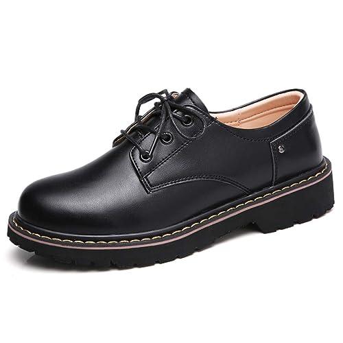 Zapatos De Las Mujeres De OtoñO Pisos Oxford Vestido Ocasional Mujeres del Trabajo Plataforma De Cuero Genuino Lace Up Mocasines De Barco Zapatos: ...