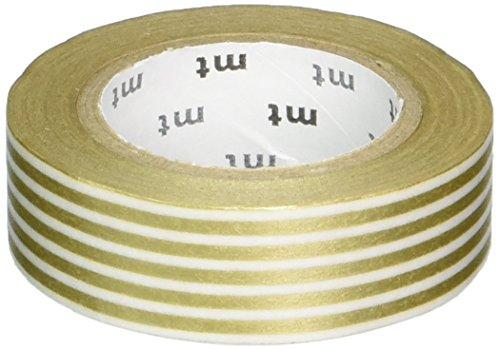 MT Washi cinta de carrocero, 1P Deco, Cenefa oro, 15mm X 10m (mt01d322)