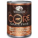Wellness CORE Natural Grain Free Turkey - Chicken & Turkey Liver Recipe Wet Dog Food - 12.5 oz - Case of 12