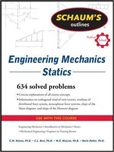 Schaums outline of engineering mechanics statics schaums schaums outline of engineering mechanics statics schaums outlines 6th edition fandeluxe Choice Image