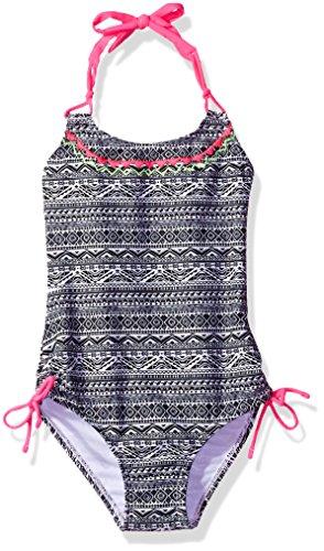 Breaking Waves Little Girls' Tribal Stitch One Piece Swimsuit, Multi, 5