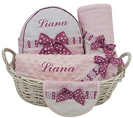Canastilla PREMIUM regalo para recién nacido PERSONALIZADO CON EL ...