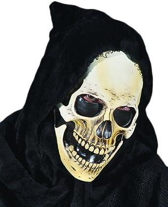 Hooded Skull Mask Grim Reaper Skeleton Scary Skull Ghost Halloween Fancy Dress