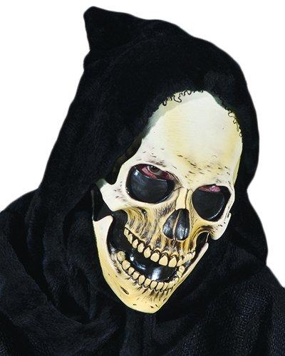 Zagone Hooded Grim Skull Mask, Skeleton Reaper ()