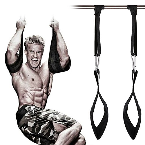 HemeraPhit Padded Hanging Ab Belt Pull Up Muscle Abdominal Carver Ab Straps Crossfit Home Gym Equipment