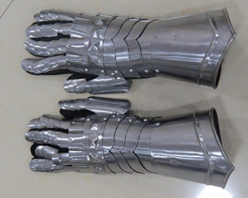 Medieval Gauntlets Gloves Finger Armor Middle Ages Sword Fighting LARP- (Medieval Gauntlets)