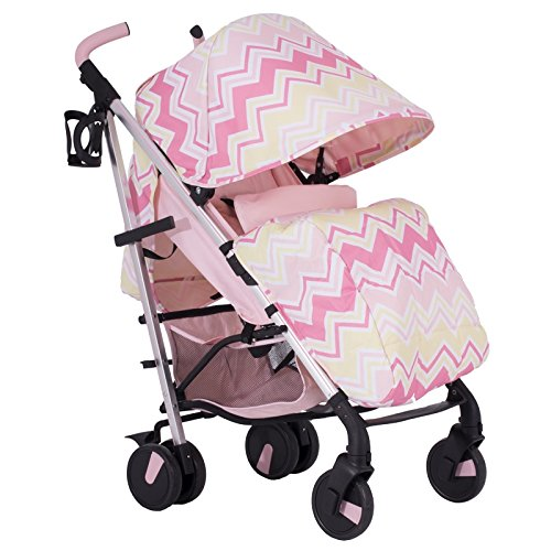 My Babiie MB51 Samantha Faiers Dreamiie Pink Chevron Stroller Pushchair - Includes Raincover