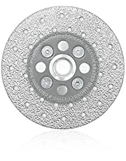 SHDIATOOL Diamond Cutting Grinding Disc Fits 5/8-11 Arbor for Marble Ceramic Double Sided Vacuum Brazed Fast Cutting Shaping Grinding Wheel