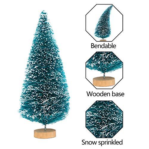 SallyFashion Mini Künstlicher Weihnachtsbaum, 20 Stück Mini Tannenbaum Miniatur Weihnachtsbaum Grün Mini Christbaum Klein Weihnachtsdeko