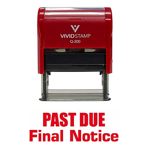 (PAST DUE FINAL NOTICE Self Inking Rubber Stamp (Red Ink) - Medium)