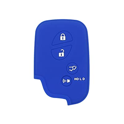 SEGADEN Silicone Cover Protector Case Skin Jacket fit for LEXUS 4 Button Smart Remote Key Fob CV2420 Deep Blue: Automotive