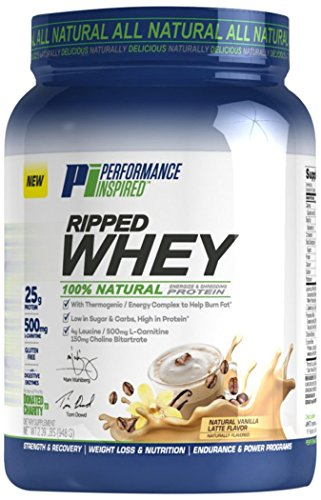 Performance Inspired Nutrition Ripped Whey Protein, Vanilla Latte, 2.09 Pound