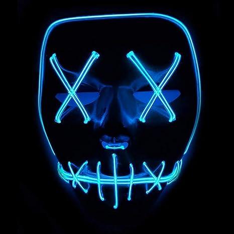 Queta Europa e gli stati uniti vendono Smorfia LED luminoso di Halloween  maschera el Cold Light a076178cb42