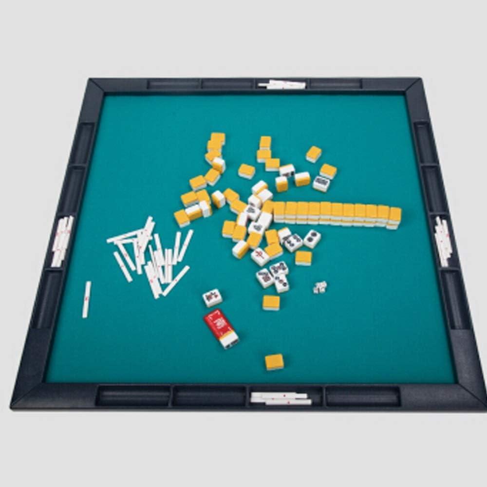 Yhjklm-TY Mahjong Juego, Mahjong japonés Conjunto tradición China portátiles de la Marca Mini Mahjong de Escritorio Plegable portátil Simple Mahjong TableBlack (Color : Negro, tamaño : 71×26cm): Amazon.es: Hogar