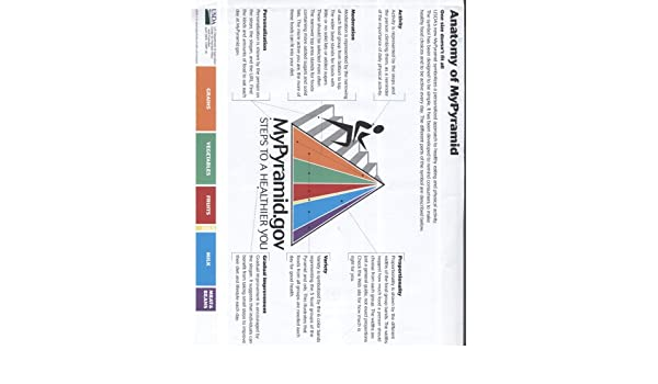 Anatomy of MyPyramid (Paper Sheet): Center for Nutrition Policy and ...