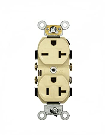 512dvQ84YhL._SY450_ leviton 5842 i 20 amp, 125 250 volt, narrow body duplex receptacle  at edmiracle.co