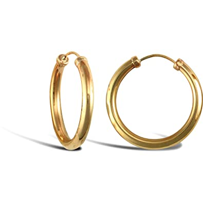 Jewelco London Ladies 9ct White Gold Twisted 2.5mm Hoop Earrings 20mm HfE5w8HLE