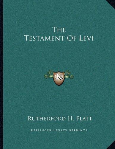 The Testament Of Levi (Levi Testament Of)