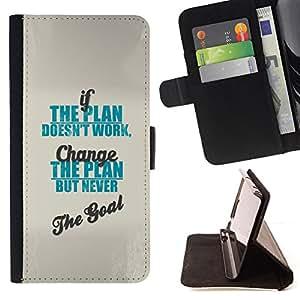 - Queen Pattern FOR Samsung Galaxy S4 IV I9500 /La identificaci????n del cr????dito ranuras para tarjetas tir????n de la caja Cartera de cuero cubie - plan goal work change inspir