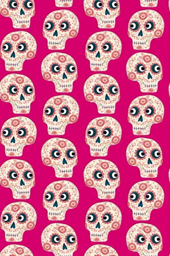 Notes: A Blank Guitar Tab Music Notebook with Pink Sugar Skull Cover Art