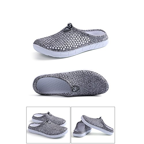 Clog BODON Summer Slippers Anti Footwear Quick Mesh Shoes Breathable Slip Garden Lightweight Drying Mesh Womens Gray Shoes wqC04w