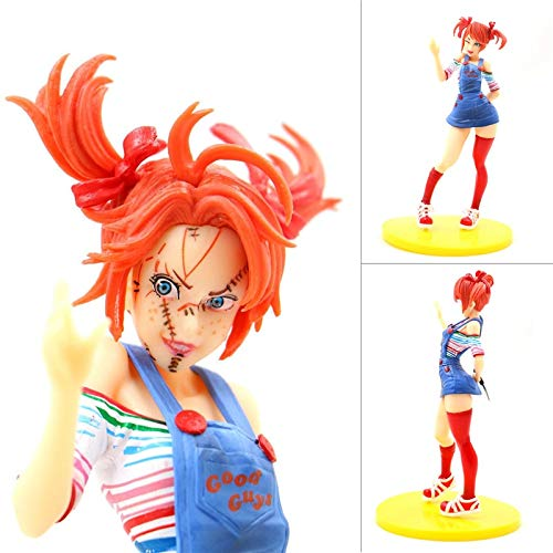 TIKIDA New 18Cm Horror Beauty PVC Action Figure Toy Horror Bishoujo Statue Tiffany Doll Child's Play Halloween Toys Dolls Gifts Teen Must Haves Friendship Gifts Girl S Favourite Superhero ()