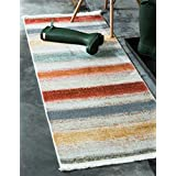 Unique Loom Native Collection Tribal Modern Kids Multi Runner Rug (3' x 10')