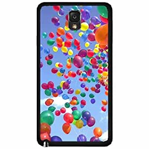 Balloons in a Clear Blue Sky- Case Back Cover (Galaxy Note 3 - TPU Rubber Silicone)