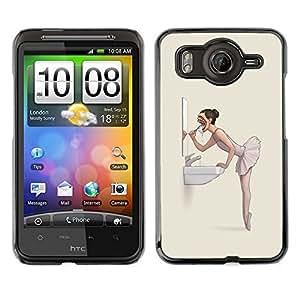 Caucho caso de Shell duro de la cubierta de accesorios de protección BY RAYDREAMMM - HTC G10 - El mal de la bailarina Nightmare - Goth