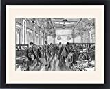 Framed Print of The Underwriting Room of Lloyd s of London, 1886